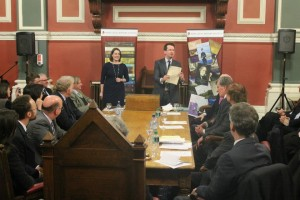 Dr Patrick Geoghegan and Dr Maebh Harding on the presentation of the Osborough Prize
