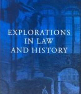 W.N. Osborough (ed.), Explorations in law and history